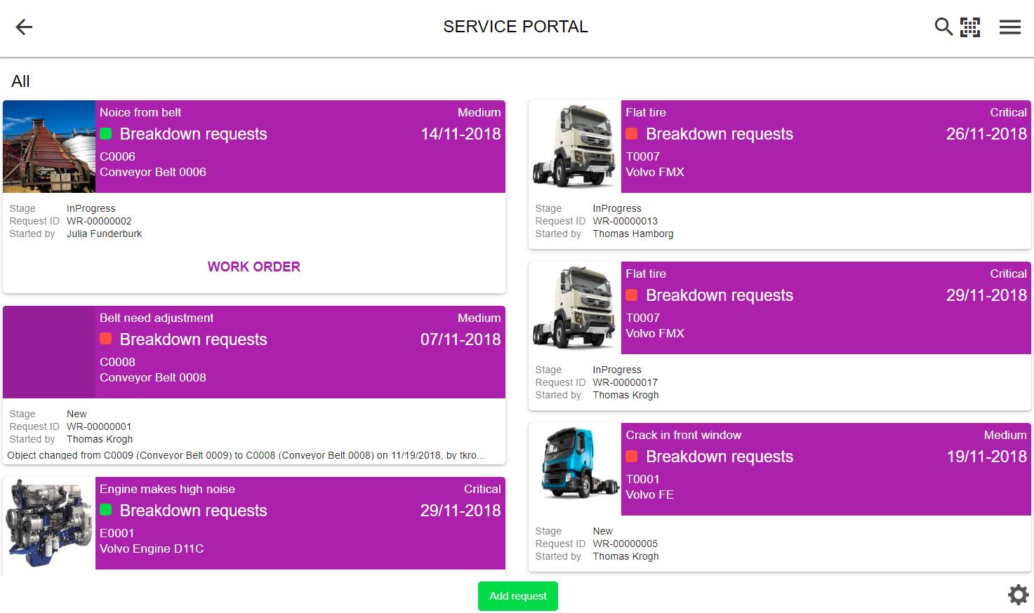 Service portal