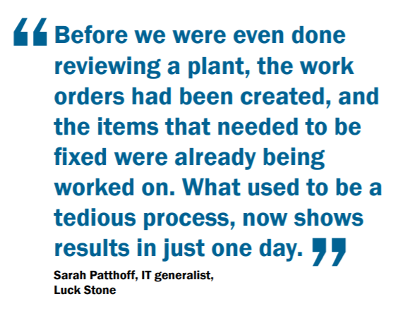 Quote from Sarah Patthoff in blue font about Dynaway