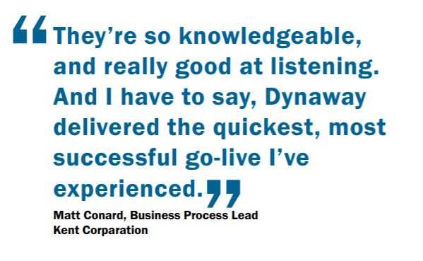 Quote from Matt Conard about his experience with Dynaway